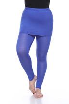 Plus Size Skirted Leggings - Royal Blue - $20.99