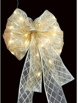 Home Accents Holiday 36-LED Ribbon Bow Tree Topper Gold - $27.67