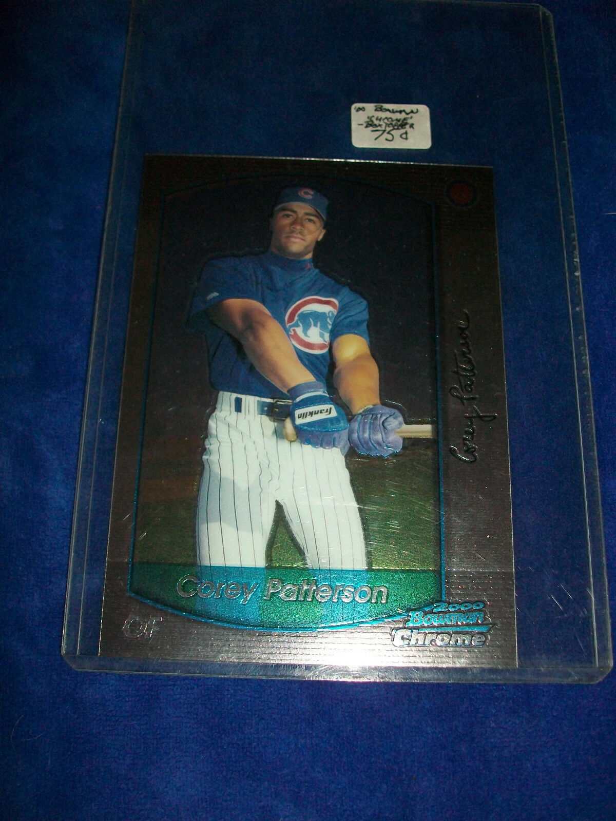 Primary image for 2000 Bowman Chrome Oversize Jumbo #4 Corey Patterson - Chicago Cubs