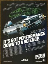 1981 Datsun 200-SX PRINT AD It's Got Performance Down to a Science - $10.89