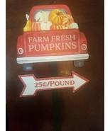 Farm Fresh Pumpkins Sign Super Cute  - $20.46