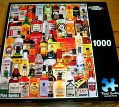 Jigsaw Puzzle 1000 Pcs Hard Liquor Bottles Collage Fine Spirits Complete... - $16.82