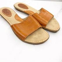 Born Concept BOC Leather Slides Sandals Shoes Size US 8 EU 39 Croc Womens - $25.97