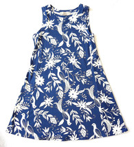 LOFT Women's Dress Petite XXSP Navy w. White Floral Bird Rayon Blend - New! - $49.50