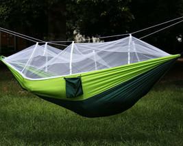 Tragbar Doppel Hängematte Dschungel Zelten Moskitonetz Außen Bett - $25.43