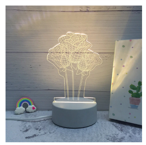 Primary image for 3D LED Lamp Creative Night Lights Novelty Night Lamp Table Lamp For Home 2