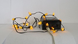 Dept 56 Halloween Village Candy Corn String of 20 Lights #53013 (Y73EX) - £14.69 GBP