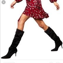 New STUART WEITZMAN Lafayette Slouch Boots Black Suede wm 8 Retail $775 - $164.25