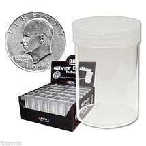 Round Large Dollar Coin Storage Tubes 38mm by BCW 98 pack - $53.99