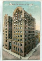 New York Life Building St Paul Minnesota 1910 postcard - $4.90