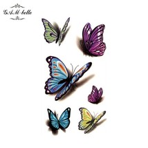 Gam-Belle® 3D Colorful Butterfly Tattoo Stickers Waterproof Chest Ankle Lasting - $2.87