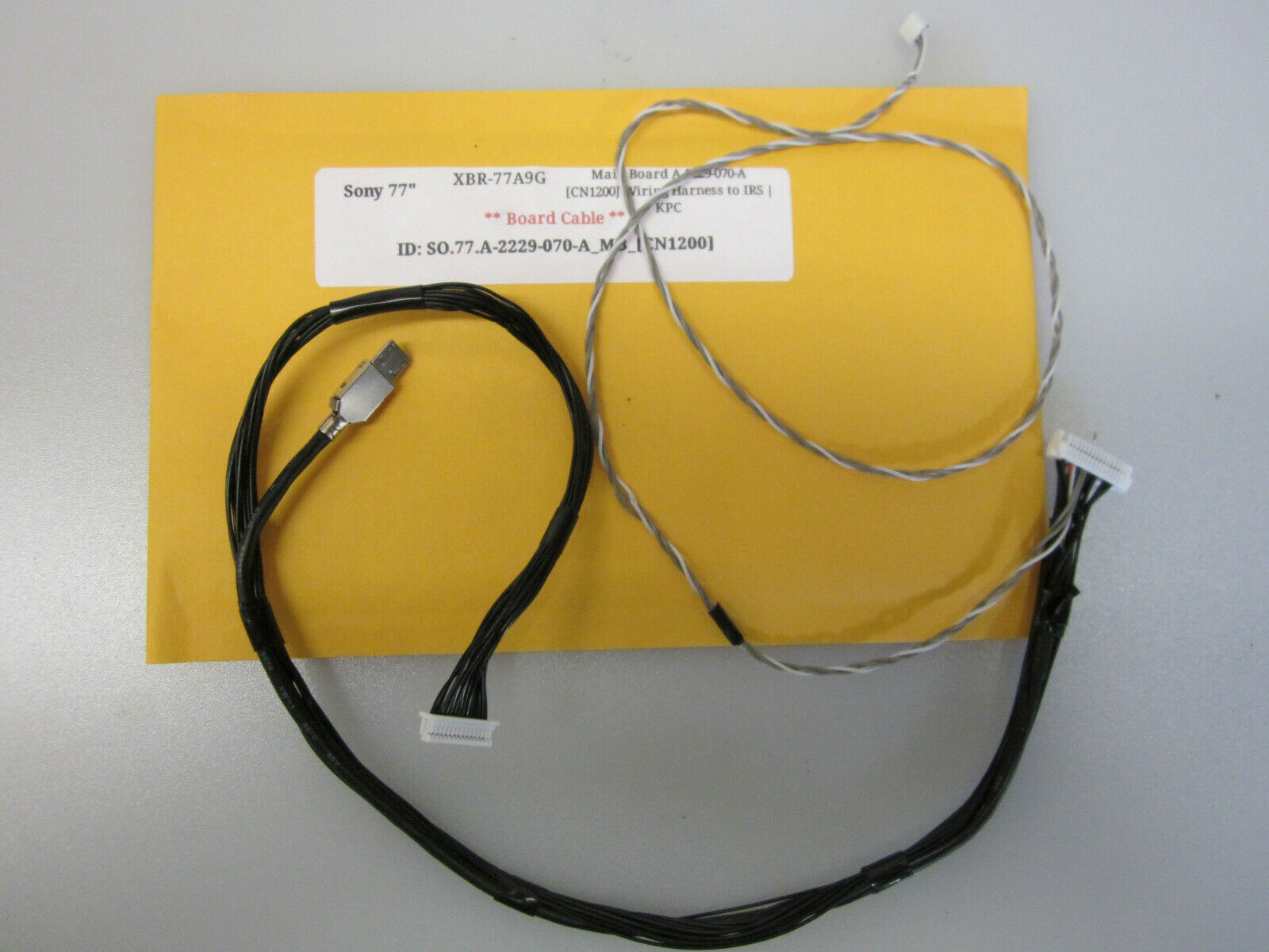 "Primary image for Sony 77"" XBR-77A9G Main Board A-2229-070-A [CN1200] Wiring Harness to IRS 