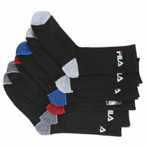 FILA Men's 6 Pack Classic Sport Athletic Gym Moisture Control Absorb Dry Socks image 15