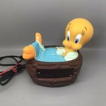 Vintage 1996 Tweety Bird Bed Nest Alarm Clock Westclox Model 32402 TESTE... - $14.88