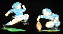 Vintage Homco 1976 Metal Football Wall Hangings Plaques - $12.46