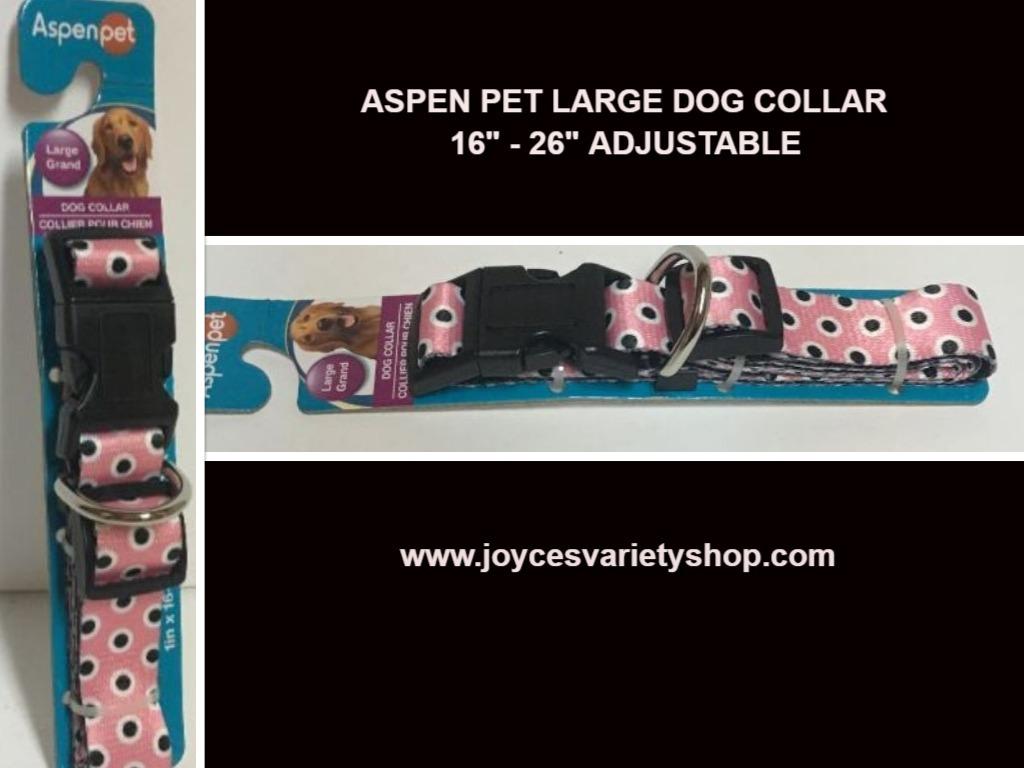Aspen dog collar pink  web collage