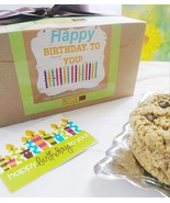 Awesome Oat Cookies  Gourmet Happy Birthday Cookie Gift Box Variety - $45.99