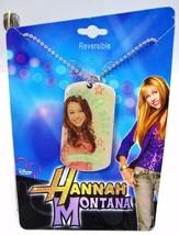 Hannah Montana Dog Tag Necklace Reversible - Miley Cyrus Collectible - $5.50
