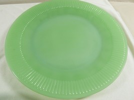 Oven Ware Fire King Jadeite Jane Ray dinner plates green ribbed dinnerwa... - $51.48