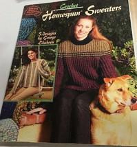 ASN Crochet Homespun Sweater 5 Women Design Patterns 1322 - $14.67