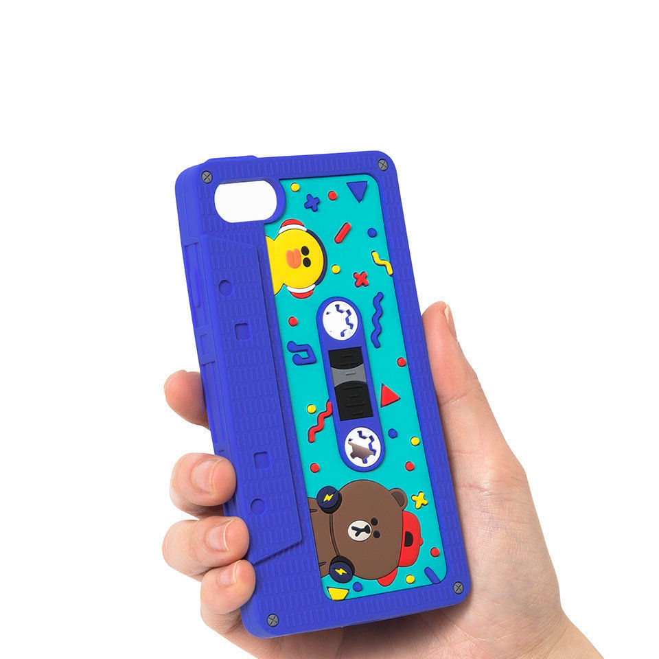 LINE Friends Tape Silicone iPhone Case 7/7 Plus Character Cover Mobile Skin Acc