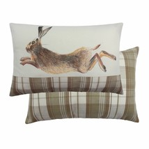EVANS LICHFIELD HAND PAINTED ANIMALS NATURAL LEAPING HARE 40X60CM CUSHIO... - $24.90