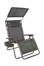 "Bliss Hammocks XXL Gravity Free Recliner with Canopy & Tray, 33"", Brown ... - $142.28"