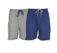 Hanes-Men's Knit Sleep Shorts, Assorted colors 2-pk image 3