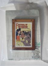 Mickey Mouse and Minnie Passholder Pin Festival of the Masters 2002 NIP ... - $24.99