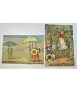 Victorian Trade Card Lot of 2 Multi Color J&P Coats' Thread Very Good C839 - $7.85