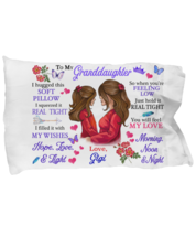To My Granddaughter Pillowcase Gift From Gigi Pillow case Covering For  - $23.99
