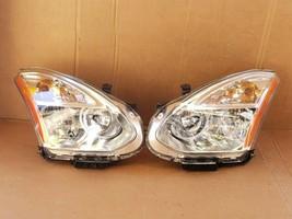 08-10 Nissan Rogue HID Xenon Headlights Set L&R - POLISHED