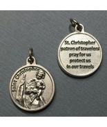Saint St. Christopher Travelers Travel Protection Medal Charm Pendant 3/... - $13.99