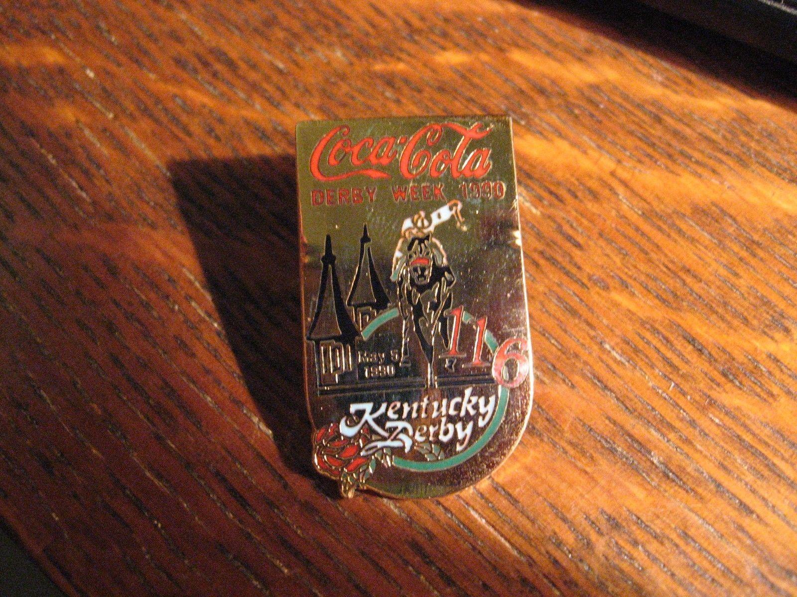 Kentucky Derby Coca Cola Pin - Vintage 1990 Coke Louisville Soda Pop Lapel Pin