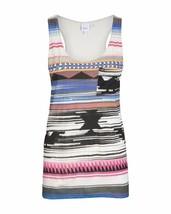 Bench Womens Orian Native Print Vest Pocket Tank Top BLGA2600 NWT