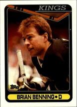 1990-91 Topps #365 Brian Benning LA Kings D Hockey Card! NM-M Blues - $1.30