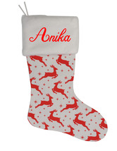 Anika Custom Christmas Stocking Personalized Burlap Christmas Decoration - $17.99