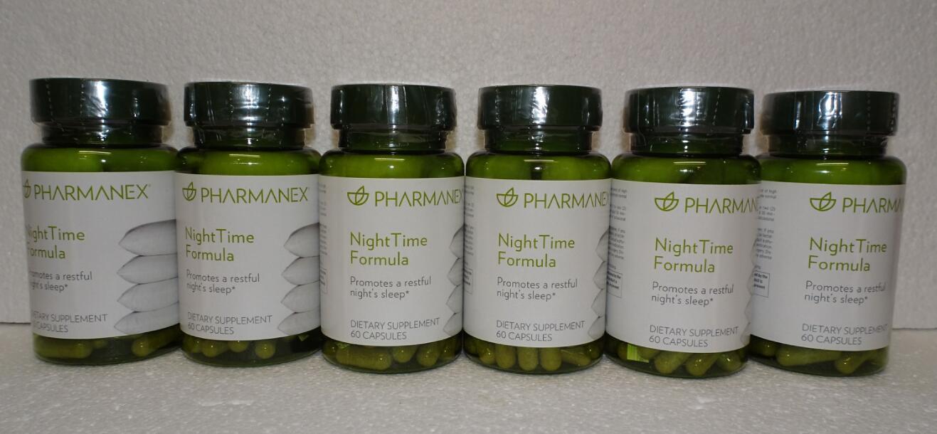 Six pack: Nu Skin Nuskin Pharmanex NightTime Night Time Formula 60 Capsules x6 - $144.00