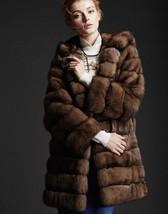 Hooded  Sable Fur coat zobel Pelzmantel - $3,959.01