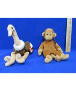 TY Beanie Babies Plush Original Stuffed Animals 1995 Bongo & 1997 Stretc... - $12.22