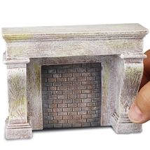 Dollhouse Grey Fireplace Unit 1.789/0 Reutter Miniature  - $33.84