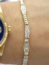 Fine Multi Shape Diamond Tennis Bracelet Yellow Gold 14KT 4.50CT - $2,970.00