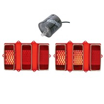 110107-2 1969 Ford Mustang Sequential LED Tail Light Pair/Set with LED F... - $164.33