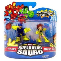 Marvel Superhero Squad Series 11 Mini 3 Inch Figure 2Pack Cyclops & Marv... - $32.99