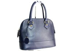 100% authentic MARIE CLAIRE alma pm navy leather ladies handbag stylish - $76.82