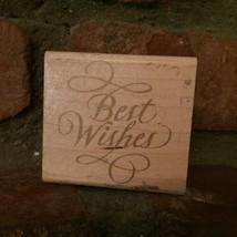Rubber Stampede Stamp A865E Elegant Best Wishes Cursive Script Word Wood... - $7.91