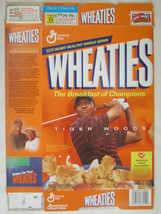 Mt Wheaties Cereal Box 2002 18oz Tiger Woods [G7E9c] - $4.78