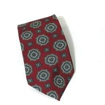Wembley Tie Men Necktie Classic Burgundy Red Geometric 57 inch 3.5 inch - $14.84
