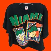VTG 90s The Flintstones Bam Bam Pebbles Miami Baseball T-Shirt 1994 USA ... - $128.65