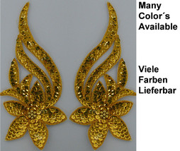 pair appliques sequins applikationen pailletten sew on embroidery handmade ap11 - $6.99